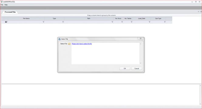 LoadXMLToSQL Screenshot