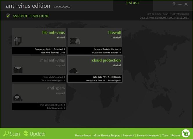 eScan Anti Virus with Cloud Security Screenshot 1