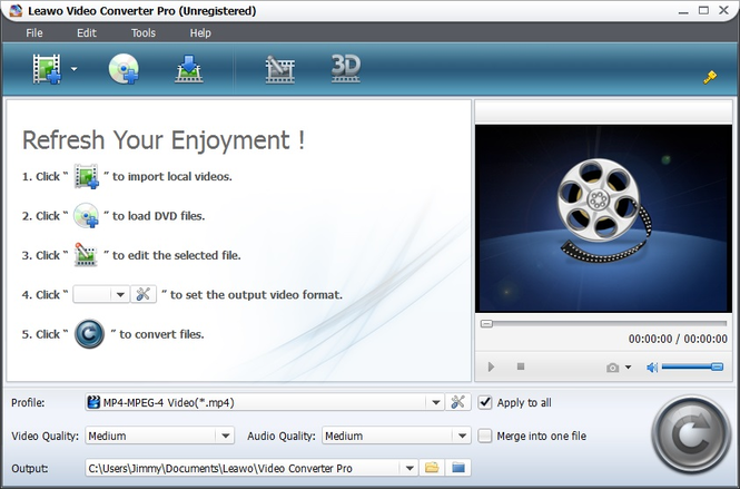 Leawo AVI to FLV Converter Screenshot 1