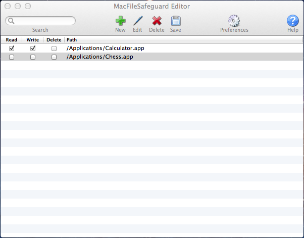 MacFileSafeguard Screenshot 1