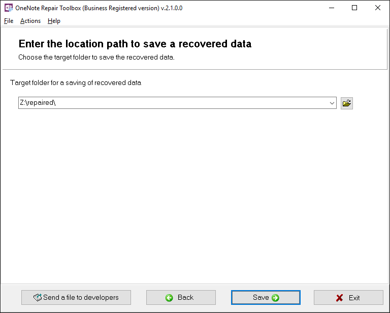 OneNote Repair Toolbox Screenshot 5