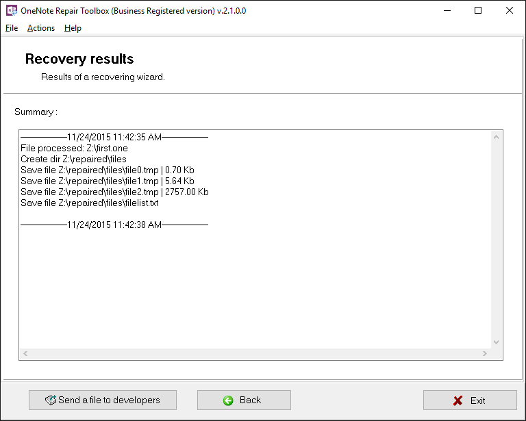 OneNote Repair Toolbox Screenshot 6