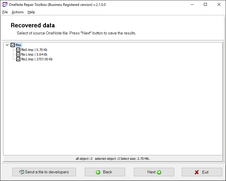 OneNote Repair Toolbox Screenshot 4