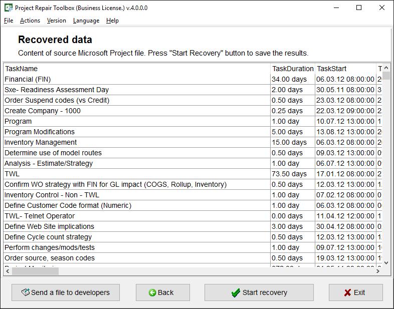 Project Repair Toolbox Screenshot 3