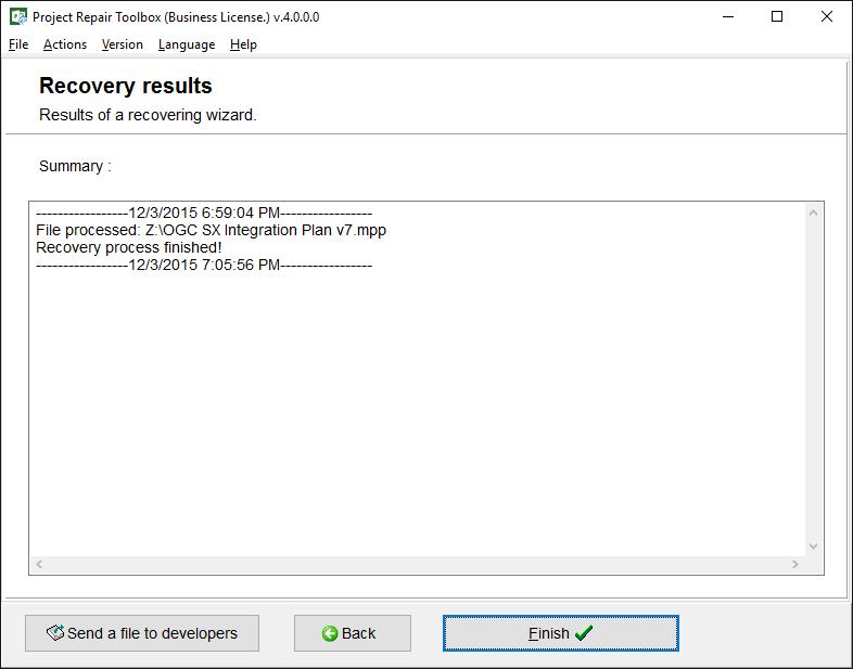 Project Repair Toolbox Screenshot 4