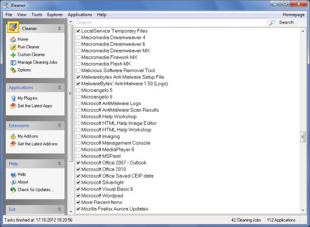 Xleaner Screenshot
