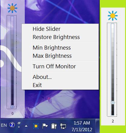 Adjust Laptop Brightness Screenshot