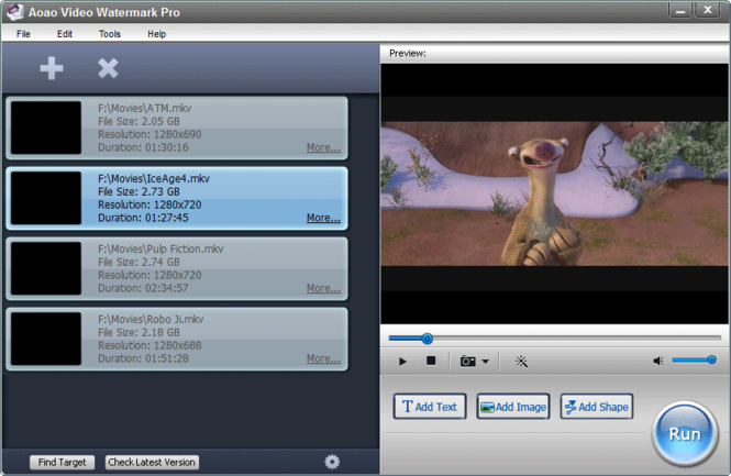 Aoao Video Watermark Pro Screenshot 1