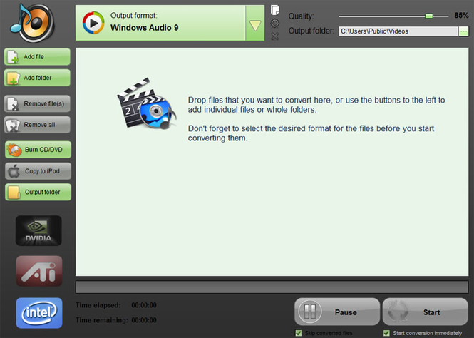 IQmango Video To MP3 Converter Screenshot 1