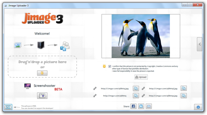 Jimage Uploader 3 Screenshot