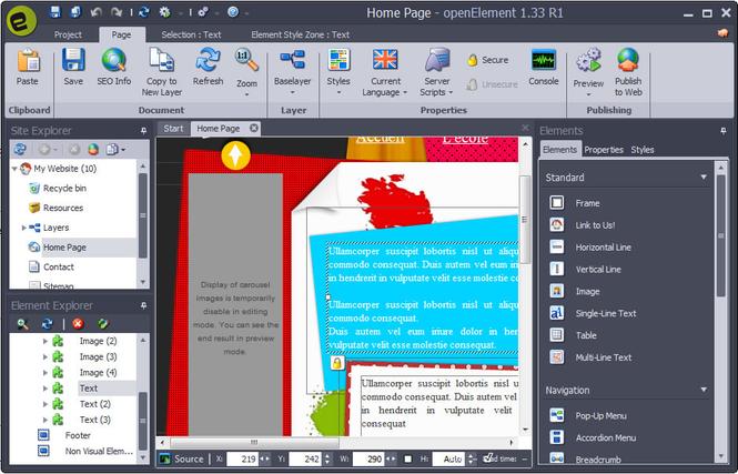 openElement Screenshot