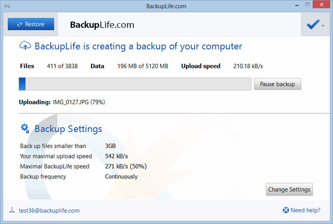 BackupLife Screenshot
