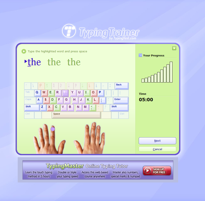 Typing Trainer Screenshot 1
