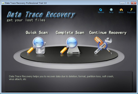 Data Trace Recovery Professional Screenshot