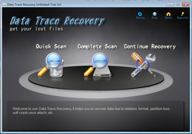 Data Trace Recovery Unlimited Screenshot
