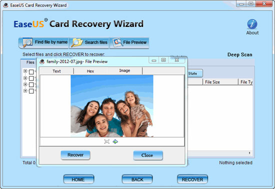 EaseUS Card Recovery Wizard Screenshot 1