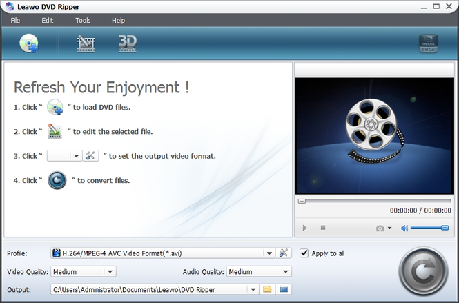 Leawo DVD to iTunes Converter Screenshot