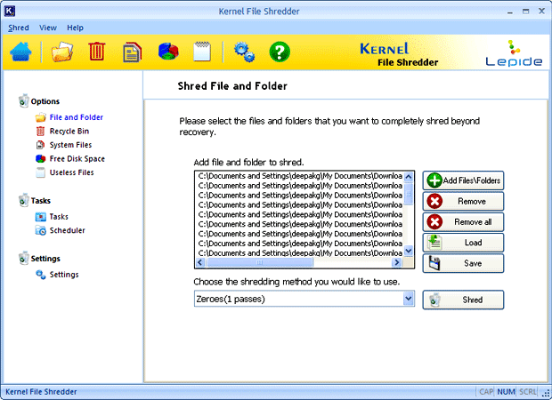 Secure File Shredder Screenshot