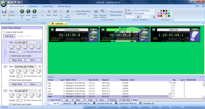 LabToad Timers and Calculators Screenshot