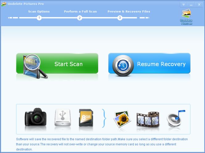 Undelete Pictures Pro Screenshot 1