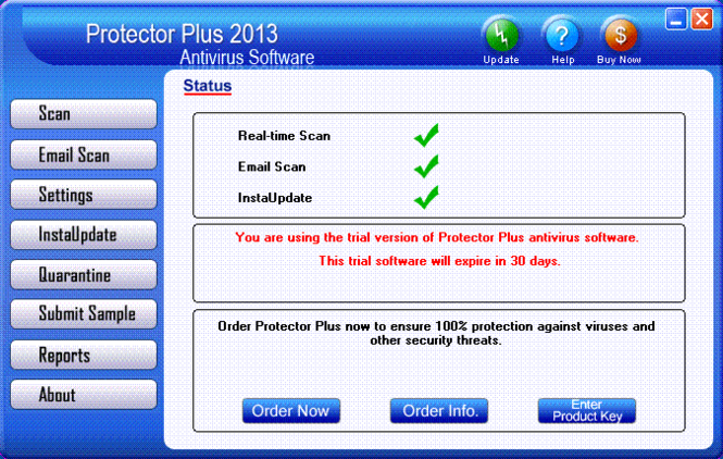 Protector Plus 2013 Antivirus Screenshot 1