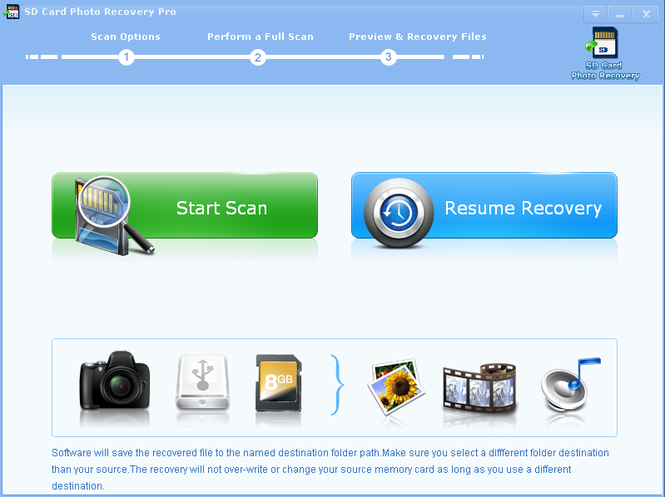 SD Card Photo Recovery Pro Screenshot