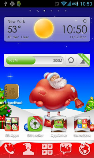 Christmas Go Launcher Theme Screenshot