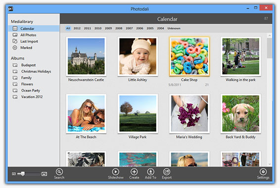 Photodali Photo Manager Screenshot