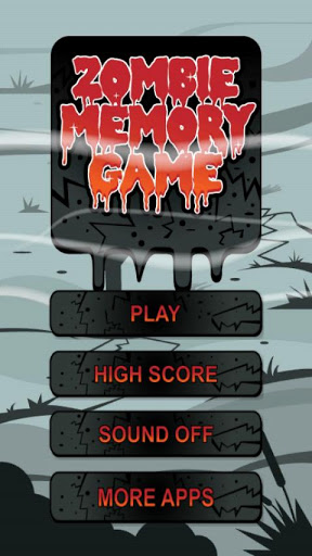 Zombie Memory Game Screenshot