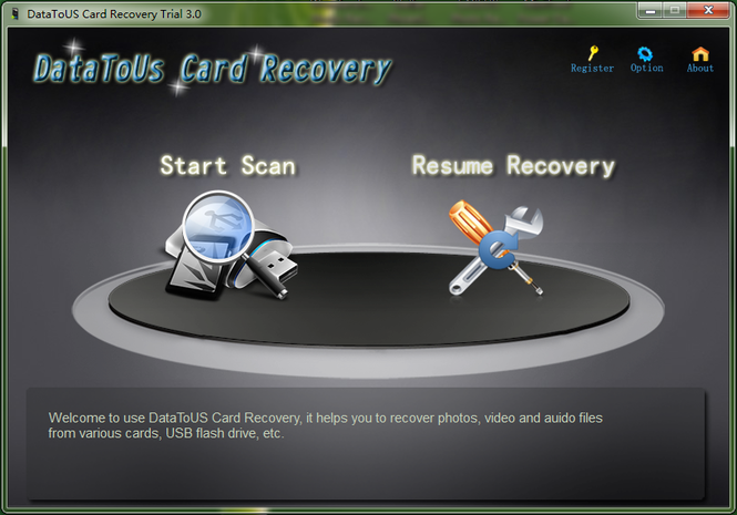 DataToUS Card Recovery Screenshot
