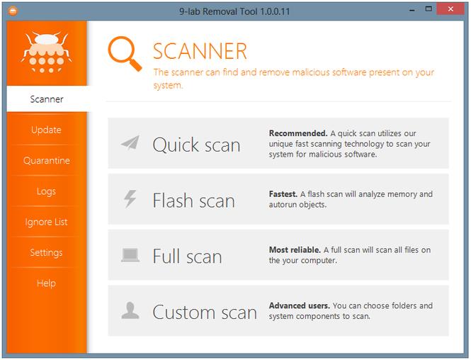 9-Lab Removal Tool Screenshot 1