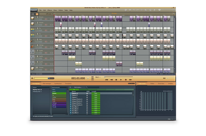 MAGIX Music Maker Hip Hop Edition 4 Screenshot