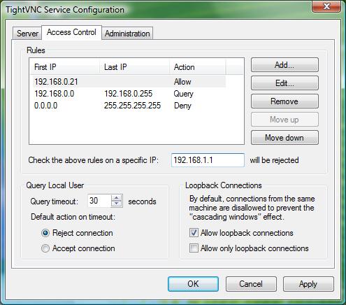 TightVNC Screenshot