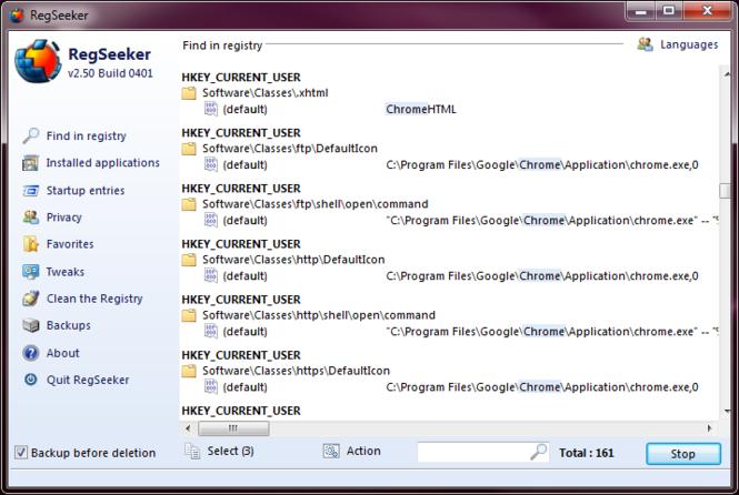 RegSeeker Portable Screenshot 3