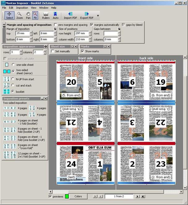 Montax imposer Screenshot