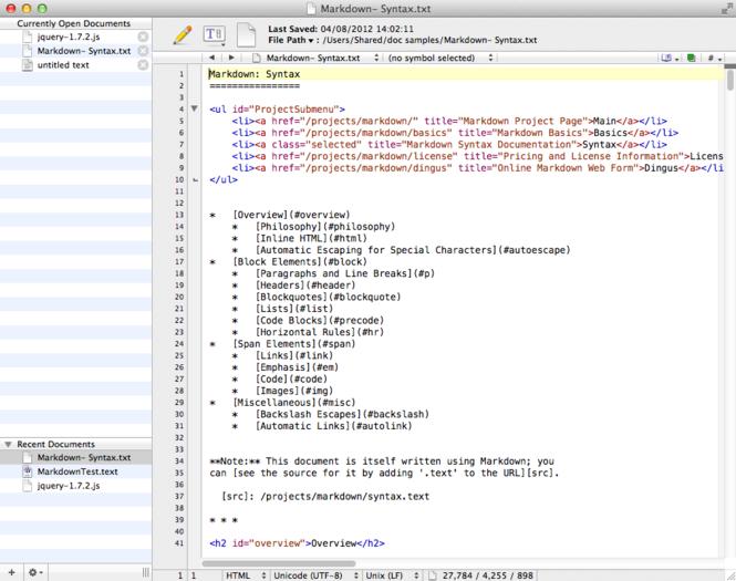 TextWrangler Screenshot 1
