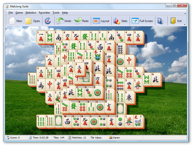 MahJong Suite Screenshot