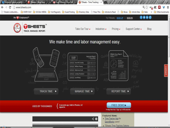 TSheets Screenshot 1