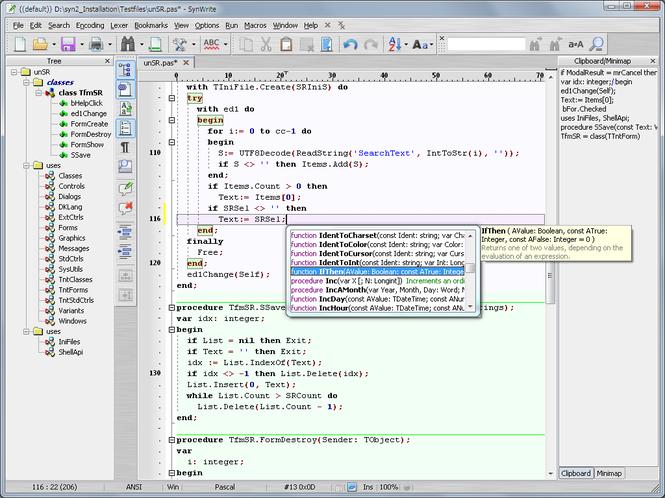 SynWrite Editor Screenshot