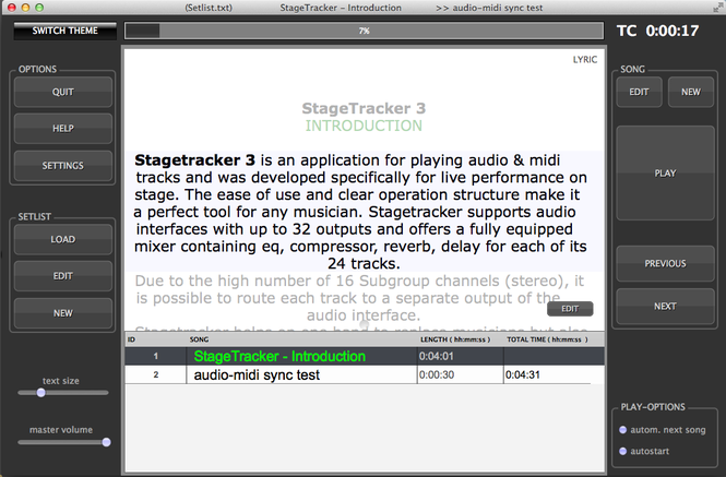 StageTracker Screenshot 1