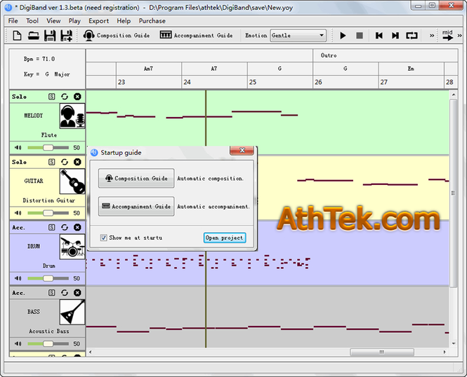 AthTek DigiBand Screenshot