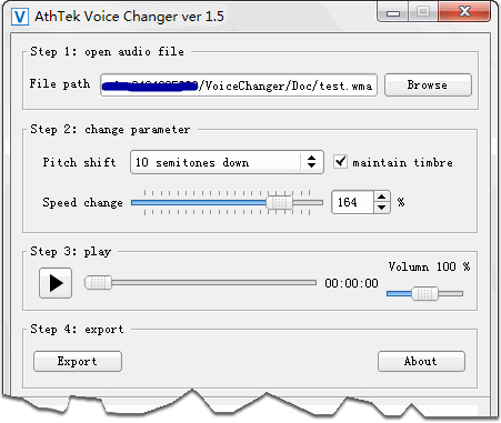 AthTek Free Voice Changer Screenshot
