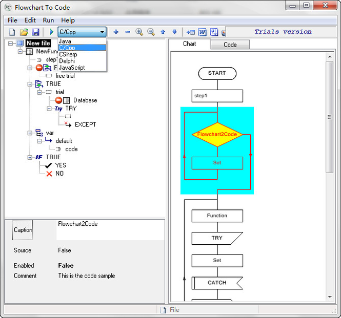 AthTek Flowchart to Code Screenshot