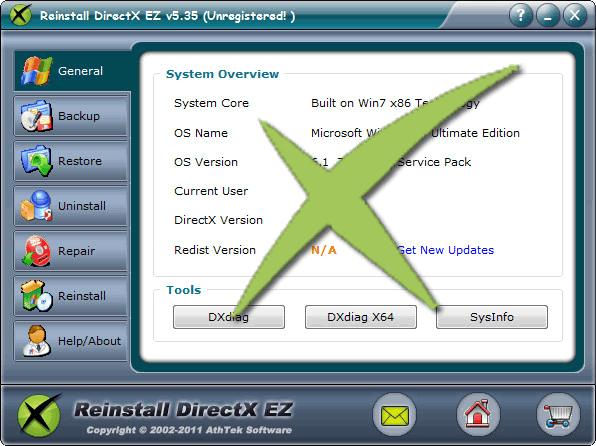 Reinstall DirectX EZ Screenshot