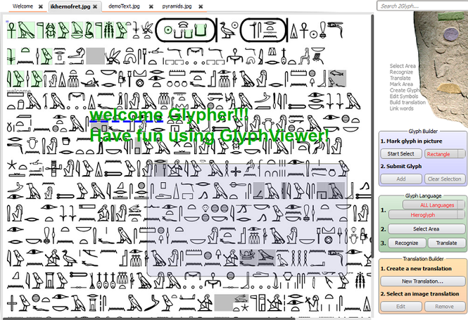 GlyphViewer Screenshot
