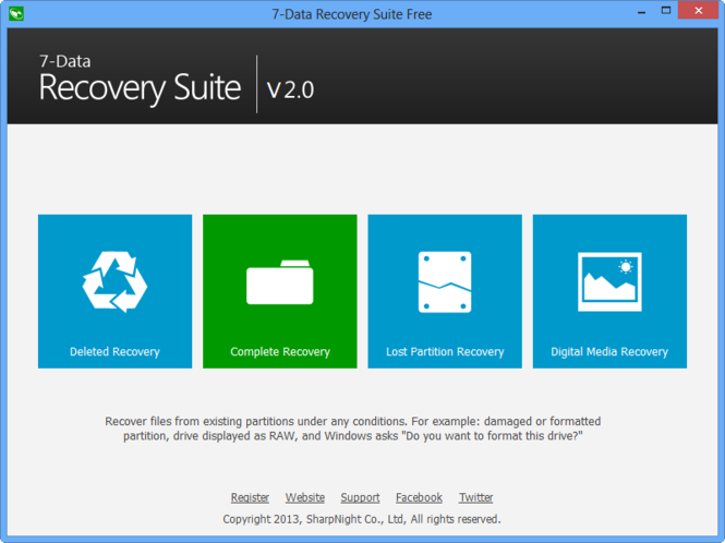 7-Data Recovery Free Screenshot