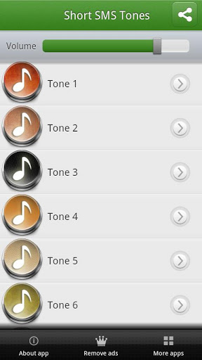 Short SMS Tones Screenshot