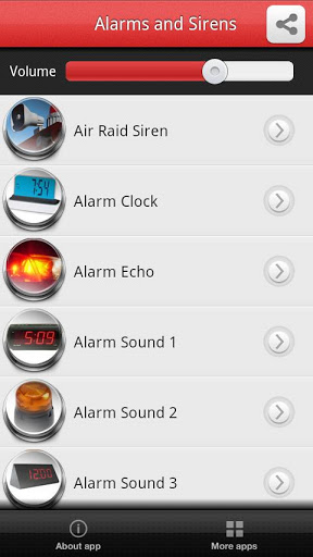 Alarms and Sirens Screenshot