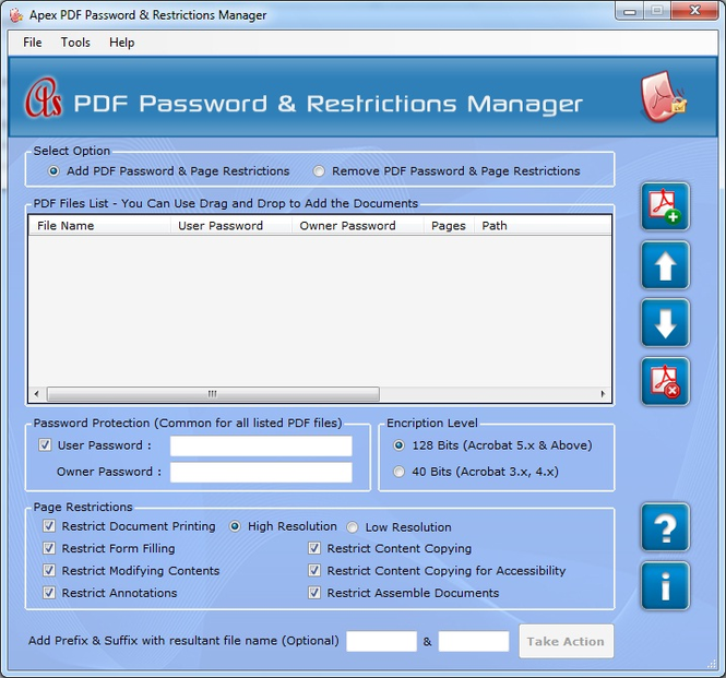 Apex Remove PDF Security Screenshot 1