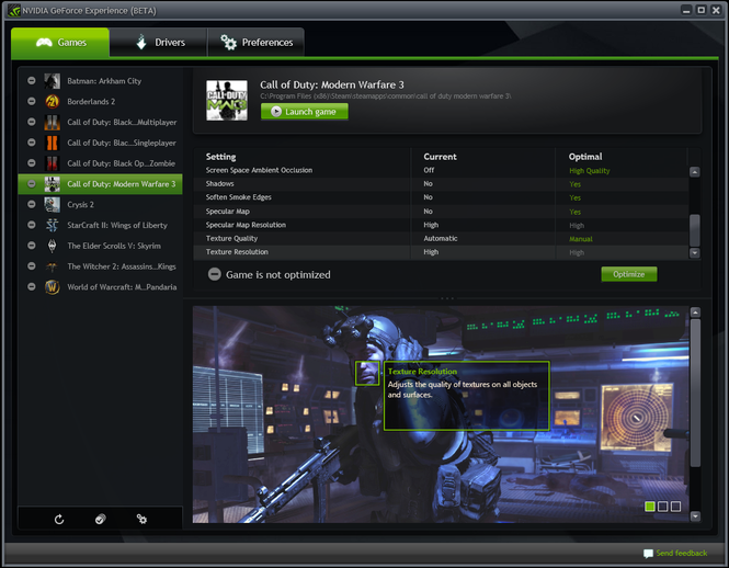 GeForce Experience Screenshot 1
